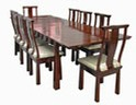 Chinese rosewood dining table - rectangular 8 seat shinto design.