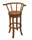 Revolving bar stool with horseshoe back