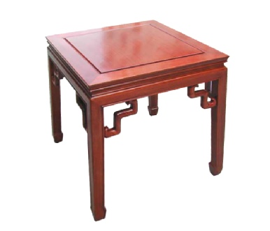 Oriental Rosewood Lamp Table with s shaped bracing