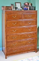 Chinese chest of seven drawers - classic style rosewood