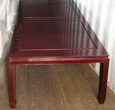 Rectangular rosewood table, 10 seats, only £299