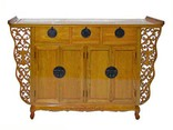 Antique style altar cabinet with openwork carving
