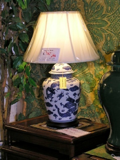 Chinese lamps from £55 including shade