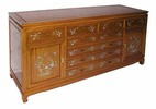 sideboard with 8 drawers mother of pearl inlay