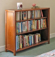 Chinese rosewood bookcase with 2 adjustable shelves
