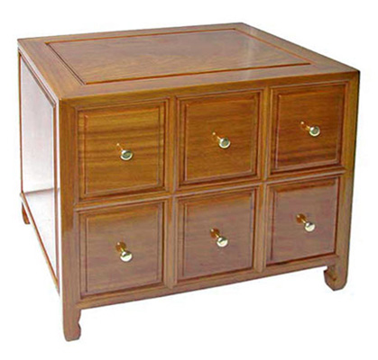 6 Drawer Rosewood Cd Cabinet