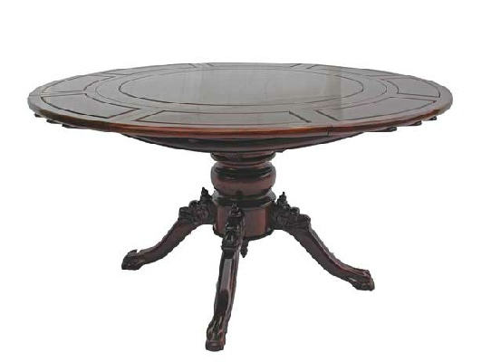 Round Extendable dining table with special style pedestal leg : ER60SPLO round table 2 from www.orientalexpression.co.uk size 542 x 400 jpeg 35kB