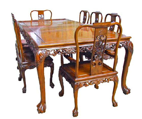 Grape Design Dining Suite Tiger Legs Plus 8 Chairs