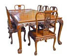 Chinese rosewood dining table - recatngular 8 seat Grape design.