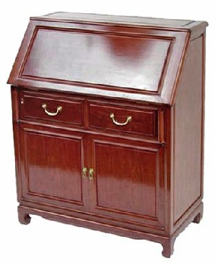 Handmade Rosewood bureau with 2 doors and 2 drawers