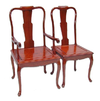 Rosewood dining chairs in French design