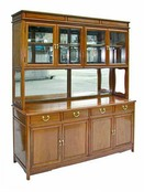 Ming style sideboard with half glazed dresser