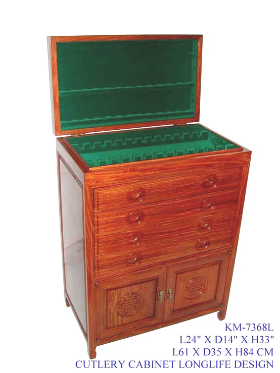 Rosewood Cutlery Chest with Longlife Carving at UNREPEATABLE PRICE IN OUR SPECIAL OFFER SALE