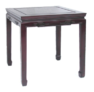 Chinese Rosewood End Table  - Key carved