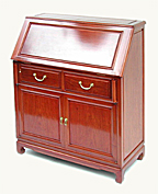 Rosewood bureau with 2 drawers and 2 doors - plain design