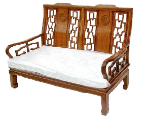 2 seat high back sofa with Long Life carving