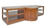 Rosewood TV and Hi Fi Cabinet in Plain Design