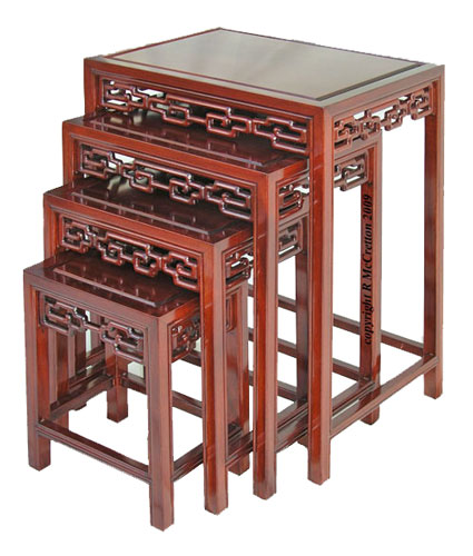 Chinese nest of tables with open key carving chinese nest of tables with open key design carving watchthetrailerfo