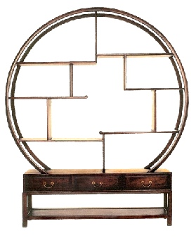 Circular Chinese Moongate Display Cabinet