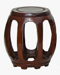 Rosewood Chinese Stool / Side Table / Pumpkin Stool