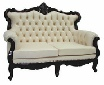 Queen Anne style Leather Sofa