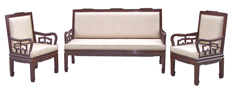 High back sofa upholstered flower design