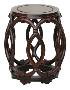 Rosewood Rope Stool