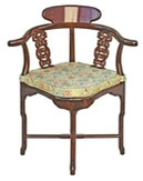 Chinese Rosewood chairs - a choice of carved or plain corner chairs available from stock.