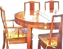 Chinese dining table with 8 chairs