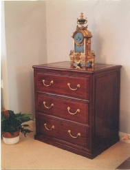 Bespoke rosewood chest of 3 drawers