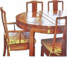 Chinese dining table - Oval Mandarin style