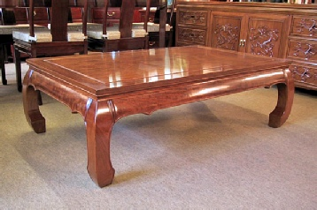 Bespoke Chinese coffee table in solid rosewood