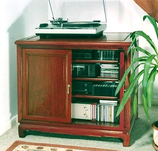 Custom made Hi Fi cabinet in solid rosewood