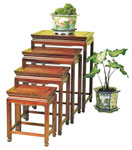 Chinese Ming style nest of 4 rosewood tables - Mandarin plain design