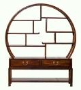 Small Moongate Curio cabinet
