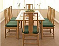 Chinese Ash dining table - rectangular 6 seat Ming design.