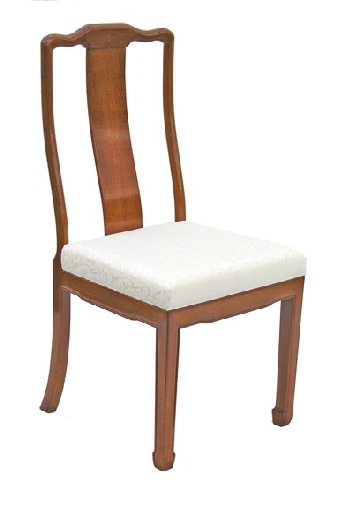 Side Chair With Built In Cushion Front And Back Views