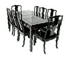 Chinese rosewood dining table - rectangular 8 seat Plain design
