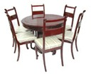 Chinese rosewood pedestal dining table - Extendable round table with 6 chairs