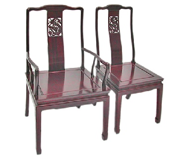 Rosewood Dining Chair in Dragon Design