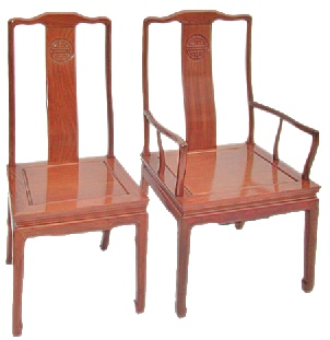 Rosewood dining chairs in long life design