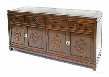 Mandarin style sideboard. Flower and Bird design.