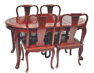 French Design Oval Dining Table with 4 chairs.