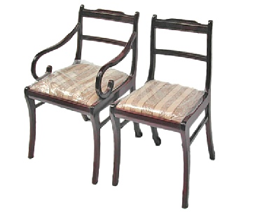 Rosewood dining chairs in low back design