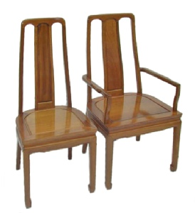 Rosewood dining chairs in high back design