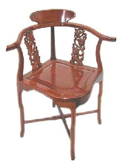 Rosewood Corner Chair Grape Carving