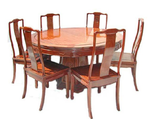Round dining table incl 6 chairs Longlife design : km 7507L cutout full 1 from www.orientalexpression.co.uk size 514 x 400 jpeg 64kB