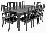 Chinese Round Cornered Rosewood Dining Suite with 8seats - Longlife carved