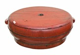 Red Lacquer Flour Vessel