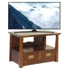 Oriental Hardwood TV Cabinet